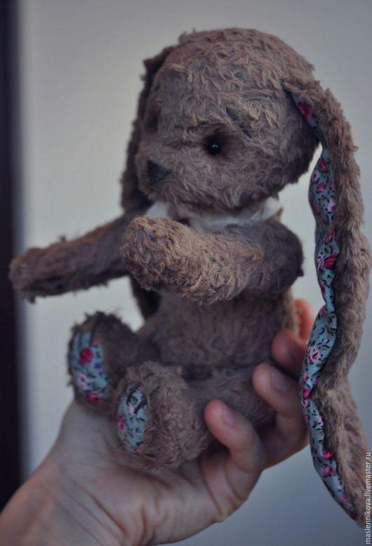 Мишки Тедди ручной работы. Ярмарка Мастеров - ручная работа. Купить Заяц Буси (19см). Handmade. Коричневый, teddy, синтепон
