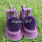 """Обувь ручной работы. Ярмарка Мастеров - ручная работа Валенки, модель """"Лесная Королева"""". Handmade."""