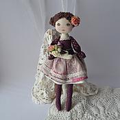 Куклы и игрушки ручной работы. Ярмарка Мастеров - ручная работа Девочка с букетом. Handmade.