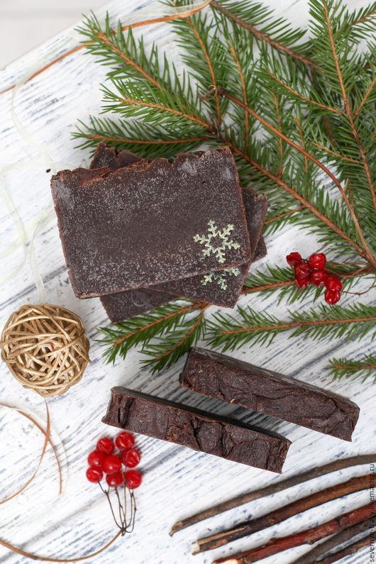 """Мыло ручной работы. Ярмарка Мастеров - ручная работа. Купить """"Молочный шоколад и корица"""" - натуральное мыло. Handmade. Шоколадное мыло"""