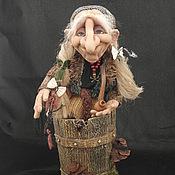 Куклы и игрушки handmade. Livemaster - original item Baba Yaga in a mortar. Handmade.