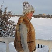 Одежда ручной работы. Ярмарка Мастеров - ручная работа Жилет из лисы на пуговках. Handmade.