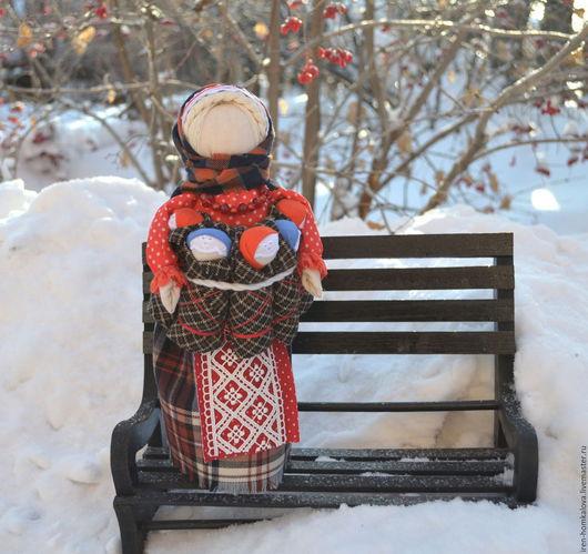 Народные куклы ручной работы. Ярмарка Мастеров - ручная работа. Купить СемьЯ. Handmade. Семья, оберег для семьи, хлопок