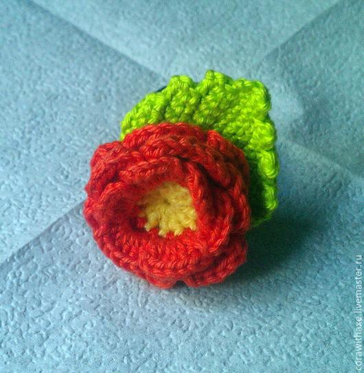 Заколки ручной работы. Ярмарка Мастеров - ручная работа. Купить Резинка для волос с цветком. Handmade. Зеленый, резинка