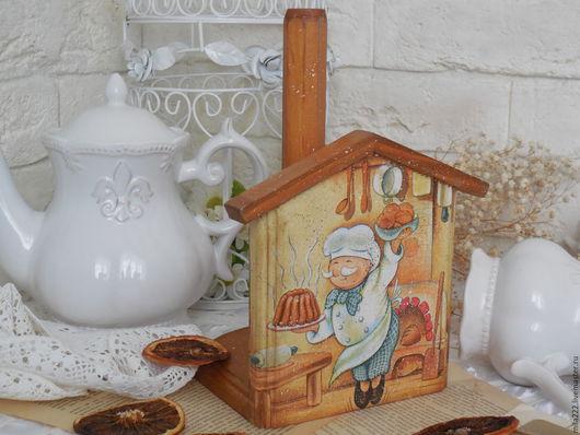"""Кухня ручной работы. Ярмарка Мастеров - ручная работа. Купить """"Уютный"""" полотенцедержатель. Handmade. Оранжевый, стиль винтаж"""