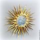 """Зеркала ручной работы. Ярмарка Мастеров - ручная работа. Купить Зеркало настенное """"Звезда по имени солнце"""" золотое. Handmade. Солнце"""