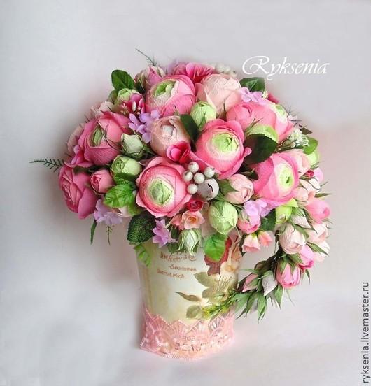 """Букеты ручной работы. Ярмарка Мастеров - ручная работа. Купить Букет из конфет """"Английские розы"""". Handmade. Розовый, Букет конфет"""