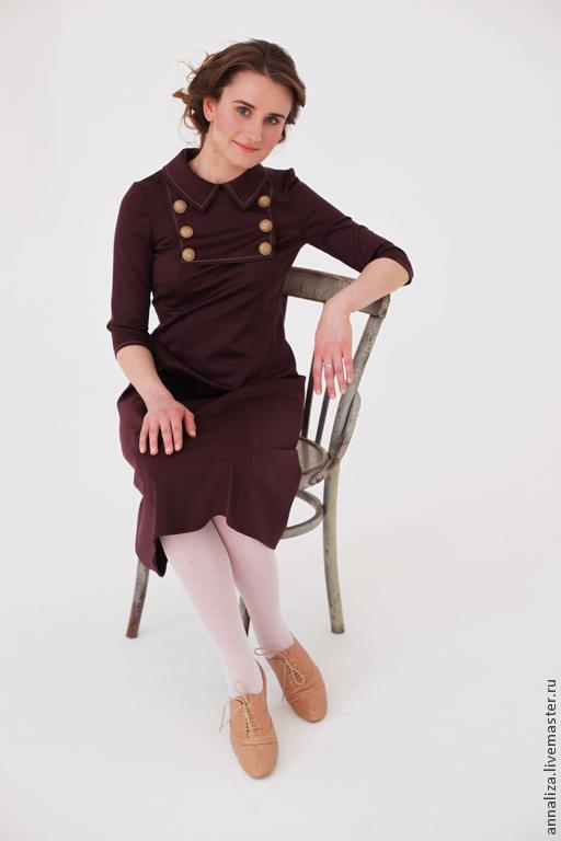 """Платья ручной работы. Ярмарка Мастеров - ручная работа. Купить Платье  в стиле ретро """"Машина времени"""". Handmade. Женское платье"""