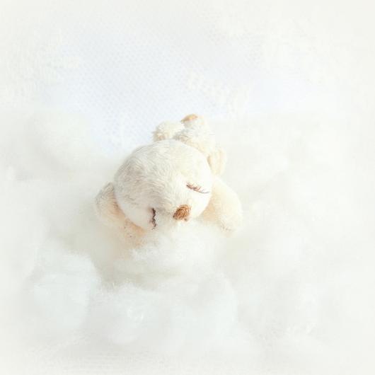 Мишки Тедди ручной работы. Ярмарка Мастеров - ручная работа. Купить Сплюша Зефирчик  (8 см). Handmade. Белый, сплюша