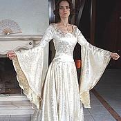 Свадебный салон ручной работы. Ярмарка Мастеров - ручная работа Золотое эльфийское платье. Handmade.