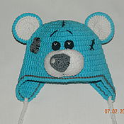 Работы для детей, ручной работы. Ярмарка Мастеров - ручная работа Вязанная шапка Тедди. Handmade.