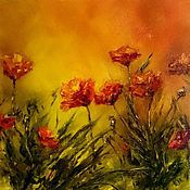 Картины и панно handmade. Livemaster - original item Oil painting Poppy field. Handmade.
