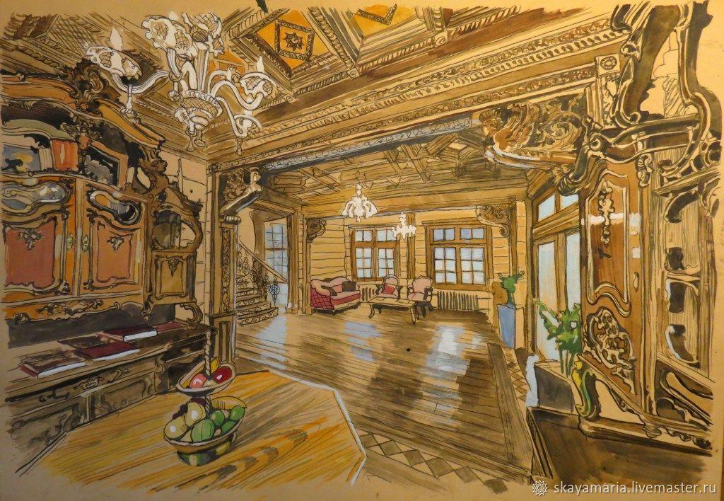 Interior design. Russian style. Wall panels – заказать на ...