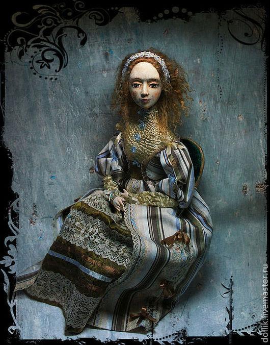 Коллекционные куклы ручной работы. Ярмарка Мастеров - ручная работа. Купить Шармель. Handmade. Будуарная кукла, волнистые волосы