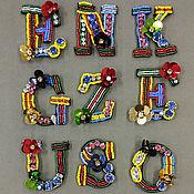 Фурнитура для шитья ручной работы. Ярмарка Мастеров - ручная работа буквы. Handmade.