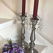 Винтаж handmade. Livemaster - original item Tin candlesticks, handmade, 2 pcs., Holland. Handmade.