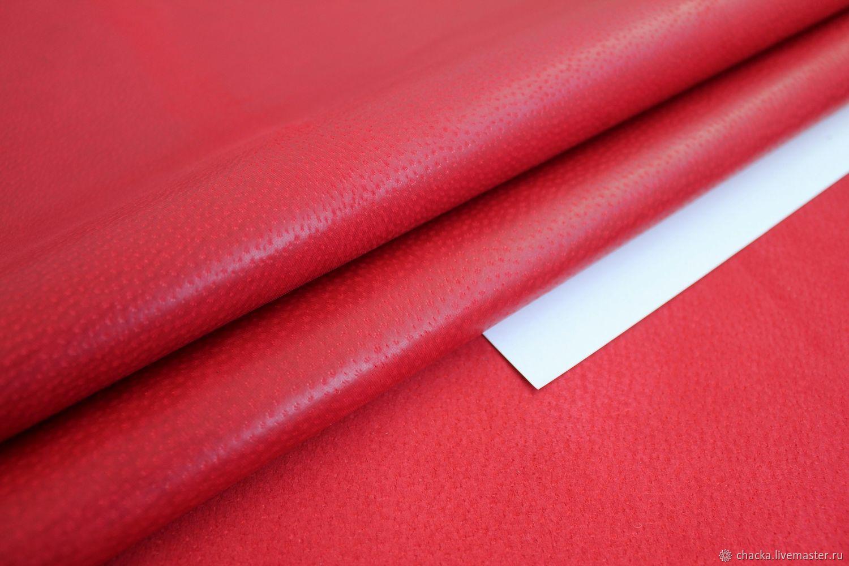 Шитье ручной работы. Ярмарка Мастеров - ручная работа. Купить Подкладочная кожа свинная Красный 0.7-0.9мм. Handmade.