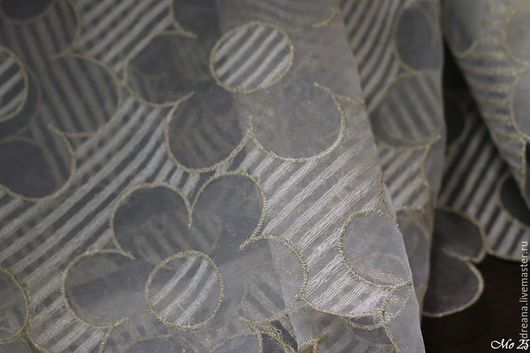 Шитье ручной работы. Ярмарка Мастеров - ручная работа. Купить Вышитая органза цветы Monnalisa. Handmade. Monnalisa, ручная вышивка