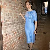 Вязаное авторское платье Париж