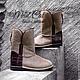 Обувь ручной работы. Ярмарка Мастеров - ручная работа. Купить Угги из натуральной кожи и кожи крокодила. Handmade. натуральная кожа