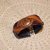 """Украшения ручной работы. Ярмарка Мастеров - ручная работа Браслет из кожи""""Индия"""" с ракушечником. Handmade."""