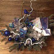 Подарки к праздникам ручной работы. Ярмарка Мастеров - ручная работа Подарочная корзина Зимняя сказка. Handmade.