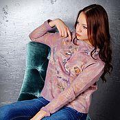 """Одежда ручной работы. Ярмарка Мастеров - ручная работа """"многоцветная"""" валяная кофточка. Handmade."""