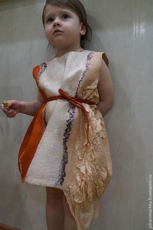 Одежда для девочек, ручной работы. Ярмарка Мастеров - ручная работа. Купить Балон.. Handmade. Рыжий, одежда для девочек, маргеланский шёлк
