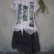 """Одежда ручной работы. Ярмарка Мастеров - ручная работа Блузка """"летние сумерки"""", валяная тонкая. Handmade."""