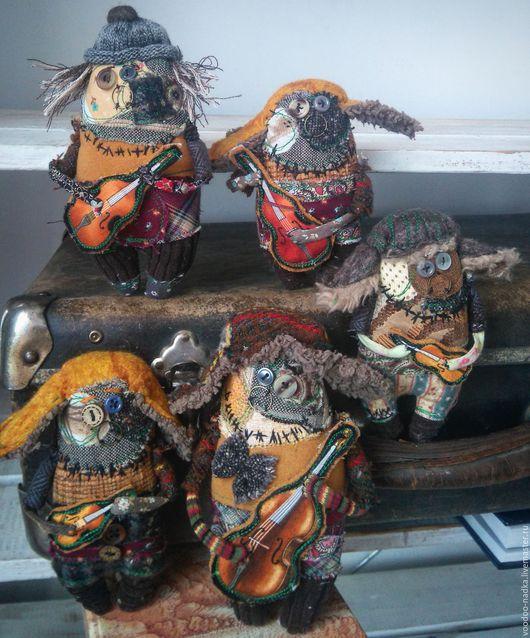 Коллекционные куклы ручной работы. Ярмарка Мастеров - ручная работа. Купить Джаз-бенд КУ. Handmade. Игрушка ручной работы