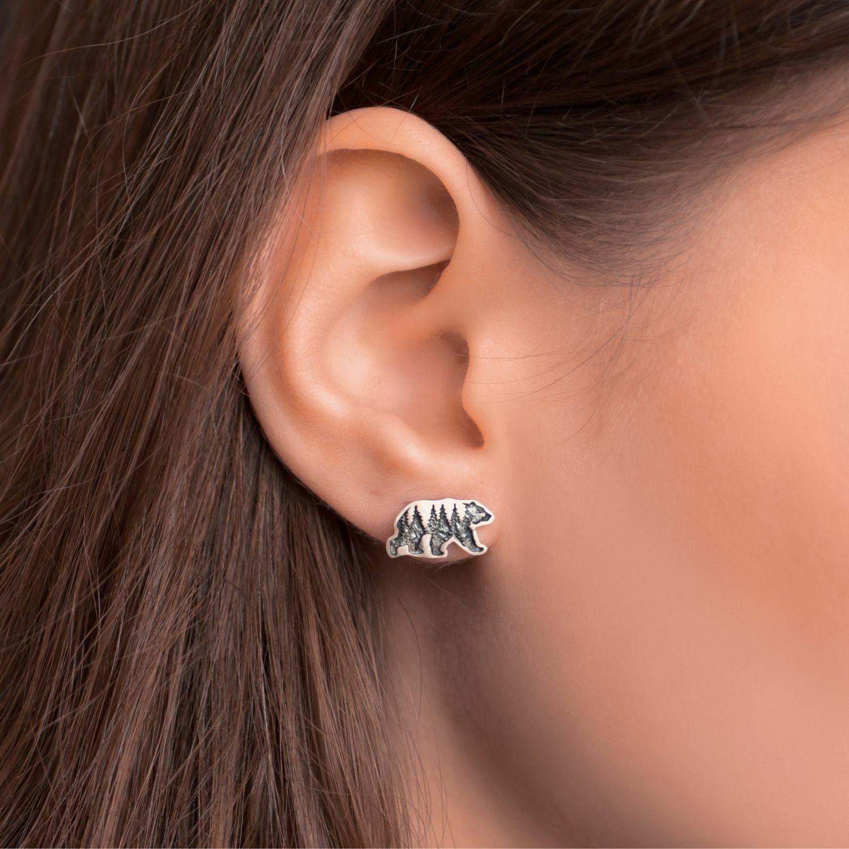 Earrings bears, Stud earrings, Kostroma,  Фото №1
