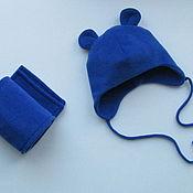 Работы для детей, ручной работы. Ярмарка Мастеров - ручная работа Комплект шапка и шарф для малыша. Handmade.