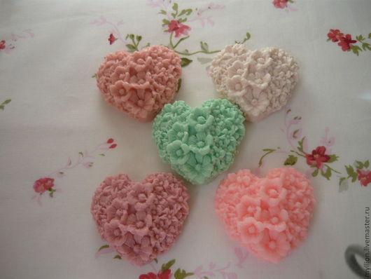 """Мыло ручной работы. Ярмарка Мастеров - ручная работа. Купить Мыло """"Цветочное сердце"""". Handmade. Мыло ручной работы, сердце"""
