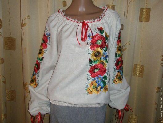 """Блузки ручной работы. Ярмарка Мастеров - ручная работа. Купить блузка"""" асимметрия"""". Handmade. Бежевый, блузка женская, натуральная ткань"""