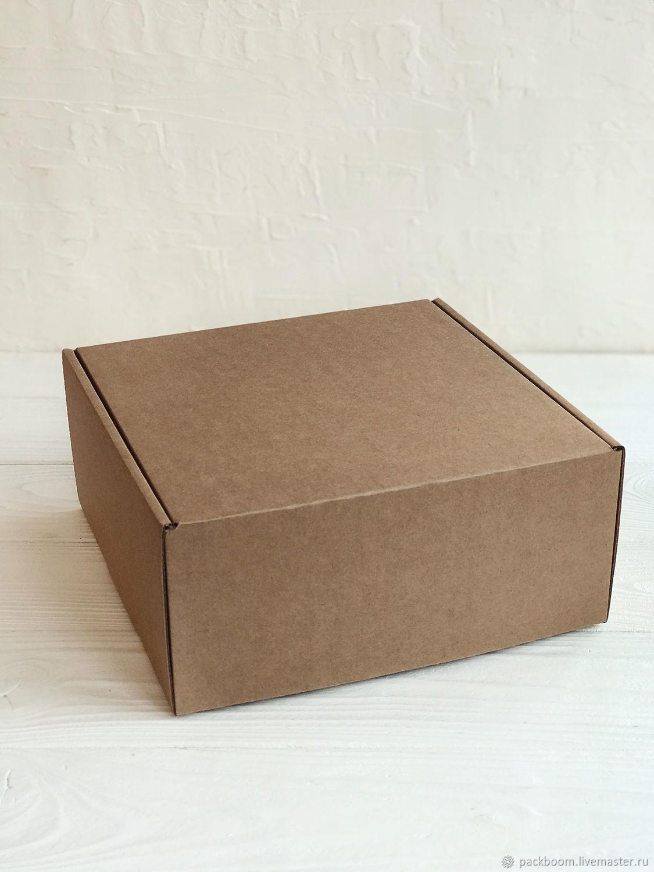 Коробка 22 х 22 х 10 см, бурая, Коробки, Москва,  Фото №1