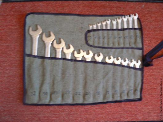 Органайзеры для рукоделия ручной работы. Ярмарка Мастеров - ручная работа. Купить Чехол-скатка для гаечных ключей. Handmade. Разноцветный, хранение