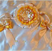 Работы для детей, ручной работы. Ярмарка Мастеров - ручная работа Бант на выписку Золотое кружево. Handmade.