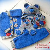 """Работы для детей, ручной работы. Ярмарка Мастеров - ручная работа Комплект для мальчика """"My Teddy bear"""". Handmade."""