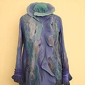 """Одежда ручной работы. Ярмарка Мастеров - ручная работа Пальто """"Небесная лазурь"""". Handmade."""