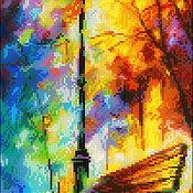 Материалы для творчества handmade. Livemaster - original item Embroidery beaded picture Afremov -meeting Place. Handmade.