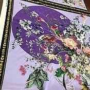 """Ткани ручной работы. Ярмарка Мастеров - ручная работа Шелк платочный """"красивые цветы"""", Италия. Handmade."""