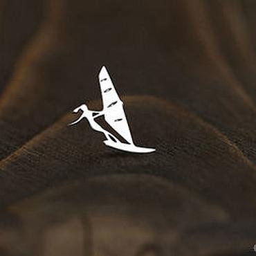 Украшения ручной работы. Ярмарка Мастеров - ручная работа Серьга active girl «Виндсерфингистка ver 1». Handmade.