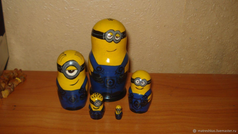 Nursery handmade. Livemaster - handmade. Buy Matryoshka Minions.Wooden toy, manual work of authorship