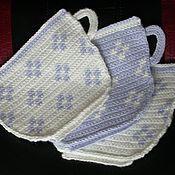 Для дома и интерьера ручной работы. Ярмарка Мастеров - ручная работа Вязанные прихватки. Handmade.