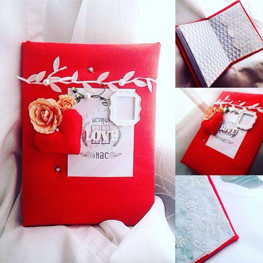 Подарки для влюбленных ручной работы. Ярмарка Мастеров - ручная работа. Купить Романтичный блокнот для записей. Handmade. День Святого Валентина