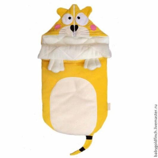 """Для новорожденных, ручной работы. Ярмарка Мастеров - ручная работа. Купить Конверт для новорожденного """"Котик"""". Handmade. Конверт, на выписку"""