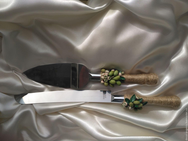 Rustic Wedding Cake Cutter And Knife Zakazat Na Yarmarke Masterov Cg9utcom Dekor Torta Moscow