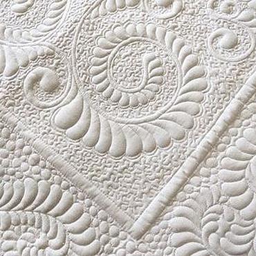 """Для дома и интерьера ручной работы. Ярмарка Мастеров - ручная работа Покрывало трапунто белое """" Для малыша"""" Квилтинг Стежка Шитье. Handmade."""
