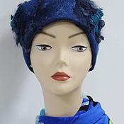 шапка женская валяная