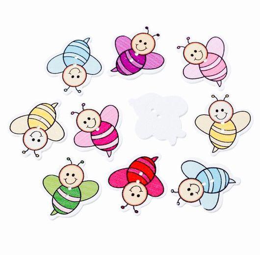 Шитье ручной работы. Ярмарка Мастеров - ручная работа. Купить Пуговицы пчела. Handmade. Пуговица, пуговицы, пуговицы декоративные